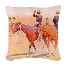 Old West Cavalry Woven Throw Pillow