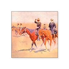 "Old West Cavalry Square Sticker 3"" x 3"""