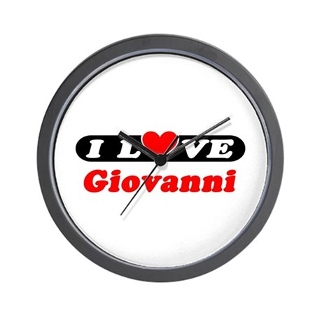 I Love Giovanni Wall Clock