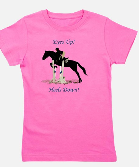 Eyes Up! Heels Down! Horse Girl's Tee