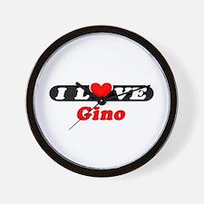 I Love Gino Wall Clock