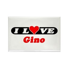 I Love Gino Rectangle Magnet