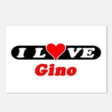 I Love Gino Postcards (Package of 8)