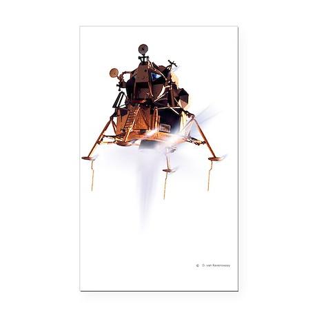 Apollo 11 lunar module, compu Rectangle Car Magnet