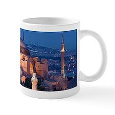 High view of the Hagia Sofia illuminate Mug