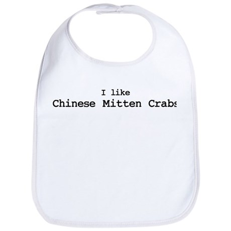 I like Chinese Mitten Crabs Bib