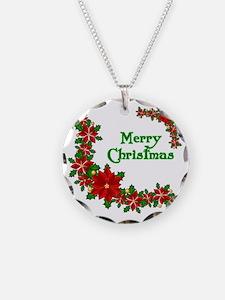 Christmas poinsettias Necklace