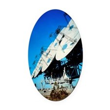 Array of radio receiving dishes in Oval Car Magnet