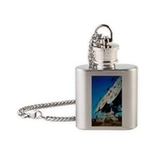 Array of radio receiving dishes in  Flask Necklace