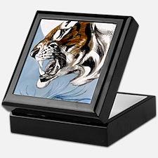 IPAD  Folio 3 DTm Tiger Moon Keepsake Box