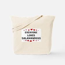 Loves: Salamanders Tote Bag
