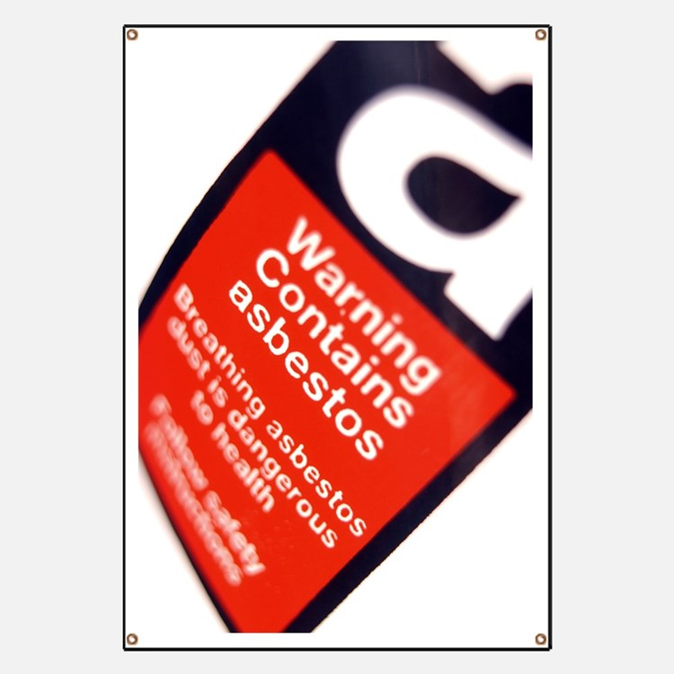Asbestos warning sign Banner