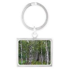 Birches Landscape Keychain