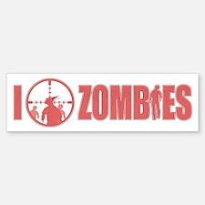 I Love Zombies Bumper Bumper Sticker