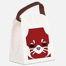 Red Panda sleepy face Canvas Lunch Bag