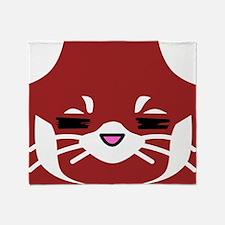 Red Panda sleepy face Throw Blanket