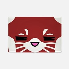 Red Panda sleepy face Rectangle Magnet