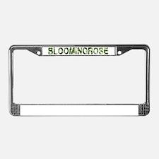 Bloomingrose, Vintage Camo, License Plate Frame