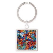Jazz Musicians Blues Band Square Keychain
