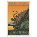 Tree Octopus WPA-Style Large Poster