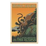 Tree Octopus WPA-Style Postcards (8)