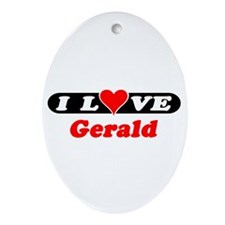 I Love Gerald Oval Ornament