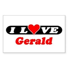 I Love Gerald Rectangle Decal