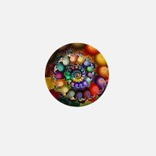 Textured Spiral 2 Blanket Mini Button