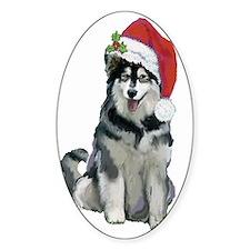 Alaskan Malamute Christmas Decal
