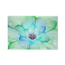 January Fractal Flower Rectangle Magnet