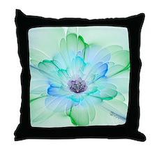 January Fractal Flower Throw Pillow