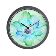January Fractal Flower Wall Clock