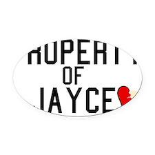 jayce Oval Car Magnet