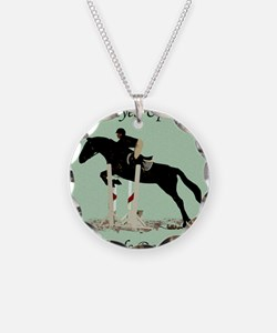 Eyes Up! Heels Down! Horse Necklace