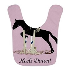 Eyes Up! Heels Down! Horse Bib