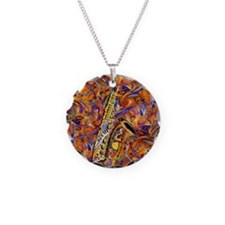 Sax In The City Jazzy Music  Necklace