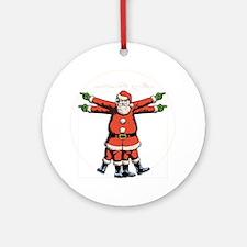 vitruvian-santa-DKT Round Ornament