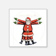 """vitruvian-santa-DKT Square Sticker 3"""" x 3"""""""