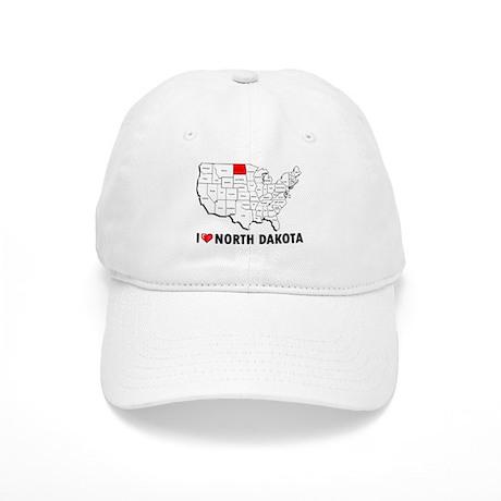 I Love North Dakota Cap