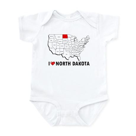 I Love North Dakota Infant Bodysuit