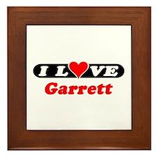 I Love Garrett Framed Tile