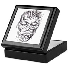 Zombie Death Head Keepsake Box