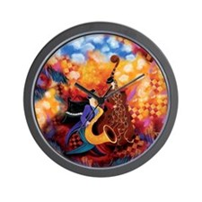Colorful Hot Jazz Music Band Trio Wall Clock