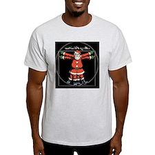 vitruvian-santa-LG T-Shirt