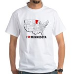 I Love Minnesota White T-Shirt