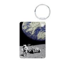 Astronaut on Moon with Ear Keychains