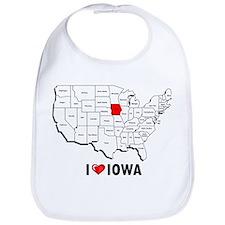 I Love Iowa Bib