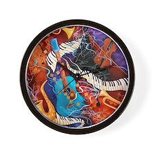 Jazz Supper Club Dreamy Guitar Piano Wall Clock