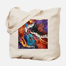 Jazz Supper Club Dreamy Guitar Piano Tote Bag