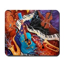 Jazz Supper Club Dreamy Guitar Piano Mousepad